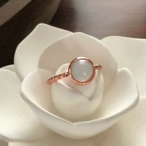 Jewelry - Beautiful Moonstone Milk Glass Ring